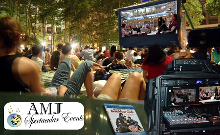 Movie Nights are perfect for Football Parties, Halloween events or schools  and church events. We bring everything to you and set it up. - 630-833-4386 Fall Themed Rentals 4U EVERYTHING You Need For A